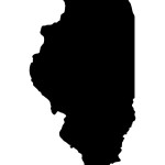 Detailed and accurate illustration of map of Illinois